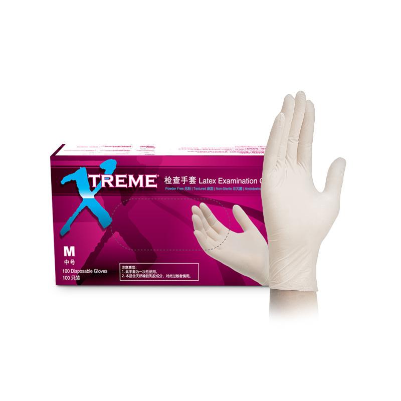 无粉乳胶手套